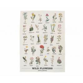 Wild Flowers pamut törlőkendő - Gift Republic