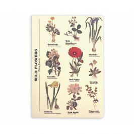 Wild Flowers jegyzetfüzet, A5 méret - Gift Republic