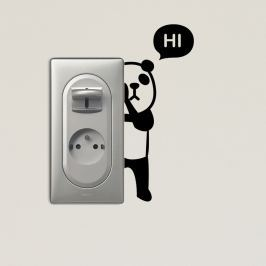 Panda öntapadós matrica - Fanastick