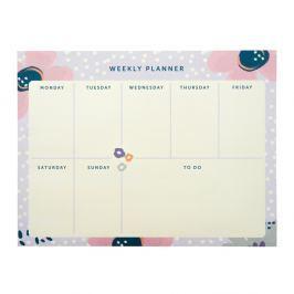 Planner Pretty/Floral, 60 listů heti tervező - Busy B