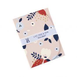 Floral jegyzetfüzet és tollkészlet - Busy B